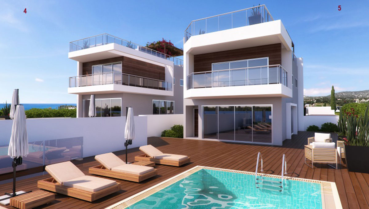 Beachfront Villas in Paphos (Multiple Options)